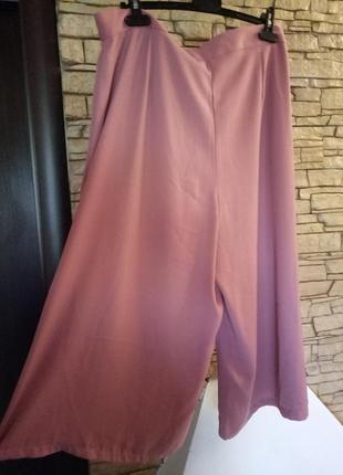 Юбка-брюки,кюлоты большого размера,цвет《пыльная роза》2 фото