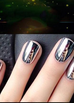Зеркальный дизайн для ногтей стикеры