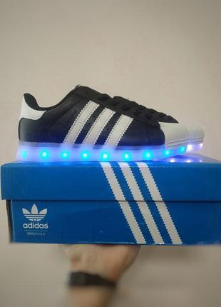 Led adidas superstar светящиеся кроссовки с подсветкой адидас