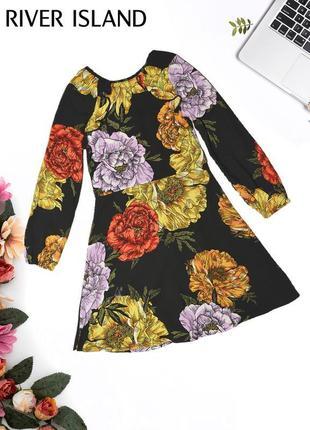 Платье в цветочных узор river island1 фото
