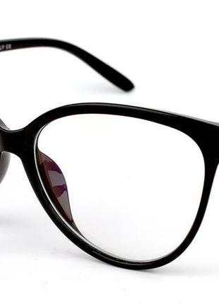 Имиджевые очки, качественная линза нулевка с бликом