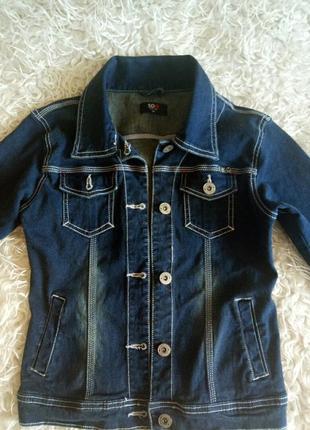 Джинсовая куртка рост 164см