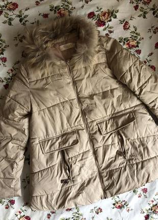 Куртка с натуральным мехом 🔥