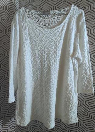 C&a /canda premium/воздушная блуза с кружевом голландского бренда