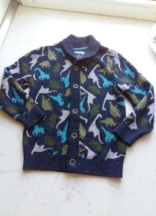 Теплая хлопковая кофта tu для маленького джентльмена  5-6 лет