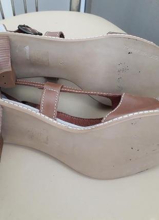 40 p. tommy hilfiger кожаные босоножки сандалии5 фото