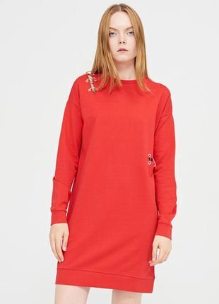 Total sale!!! платье свитшот красное новое cropp town