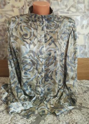 Роскошная блузка 100%шелк  натуральный peter hahn