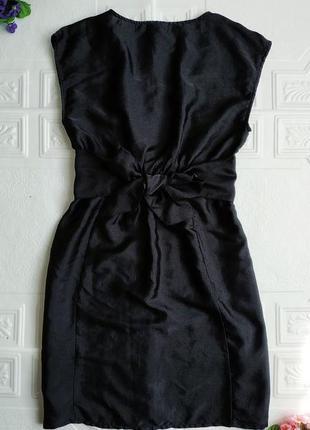 Короткое атласное вечернее платье h&m, маленькое черное платье :)4 фото