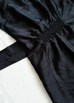 Короткое атласное вечернее платье h&m, маленькое черное платье :)6 фото