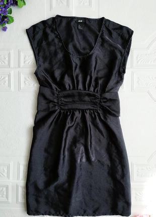 Короткое атласное вечернее платье h&m, маленькое черное платье :)