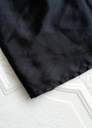 Короткое атласное вечернее платье h&m, маленькое черное платье :)3 фото