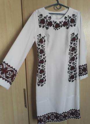 Платья вишитое чешским бисером