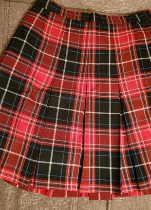 Шерстяная юбка шотландка.