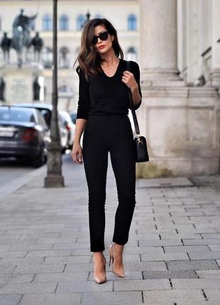Базовые идеальные узкие брюки, скинни h&m