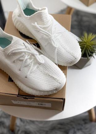 Крутые adidas yeezy boost в полностью белом цвете (весна-лето-осень)😍
