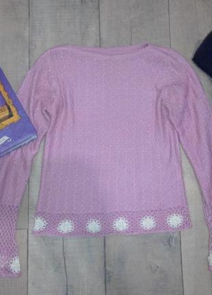 Нежный розовый свитерок