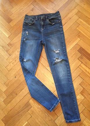 Рваные джинсы,высокая талия  george2 фото
