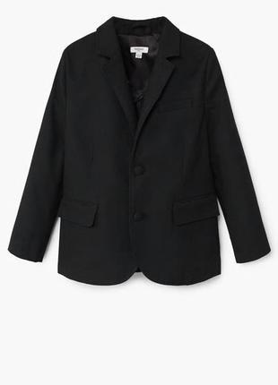 Пиджак mango р. 5-8 лет, оригинал черный школьный,школьная форма,жакет
