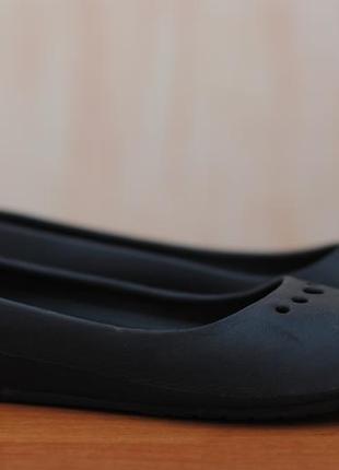 Черные женские босоножки, балетки crocs, крокс. 39 размер. оригинал