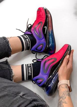 Шикарные женские кроссовки nike air max 720 pink/violet 😍 (весна/ лето/ осень)