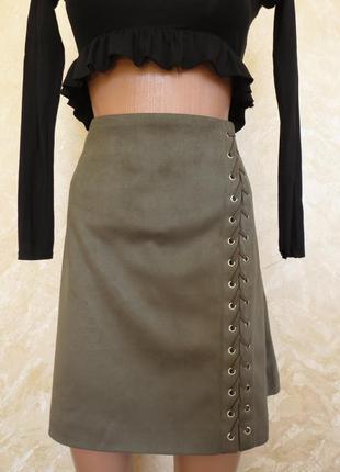 Новая стильная юбка под замш  трапеция