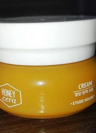 Питательный крем с медом и керамидами etude house honey cera cream миниатюра
