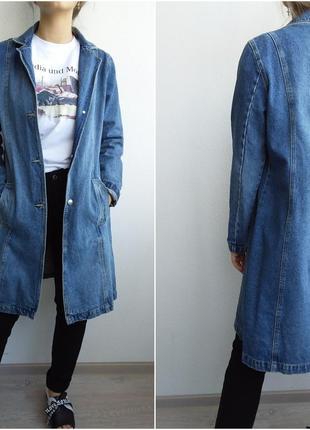 Джинсовый плащ котон 100% джинсовка котоновый тренч isolina's jeans  бойфренд джинсовка2 фото