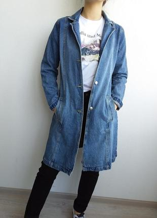 Джинсовый плащ котон 100% джинсовка котоновый тренч isolina's jeans  бойфренд джинсовка4 фото