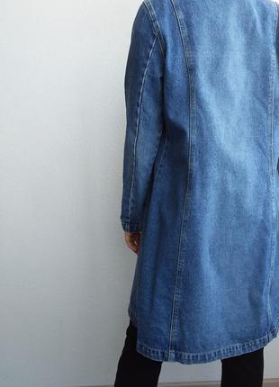 Джинсовый плащ котон 100% джинсовка котоновый тренч isolina's jeans  бойфренд джинсовка6 фото
