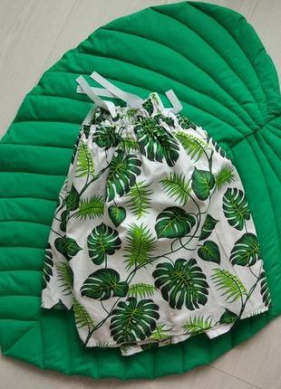 Юбка в кроватку tropical