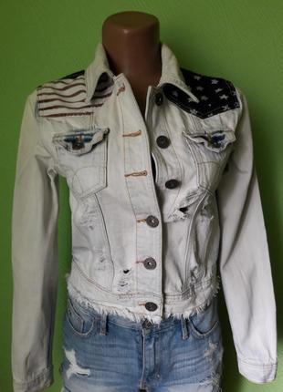 Рванная джинсовая курточка