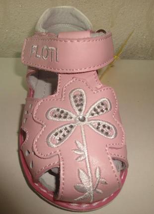 Кожаные закрытые босоножки 25 р. floti на девочку, сандалии, босоніжки, сандалі, флоти