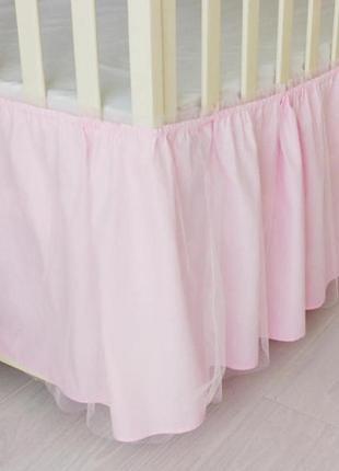 Юбка в кроватку с фатином pink tulle