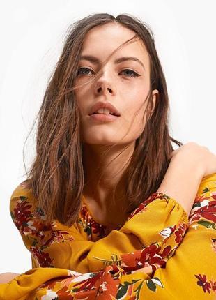 Красивая блуза блузка рубашка цветы stradivarius