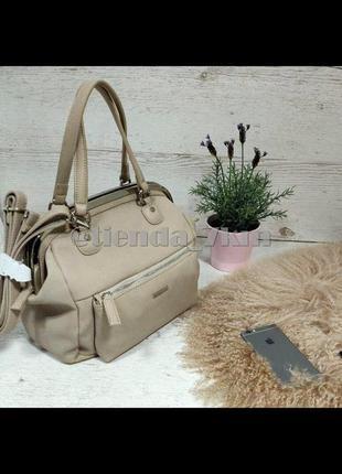 Женская сумка от david jones 5729-1 sand
