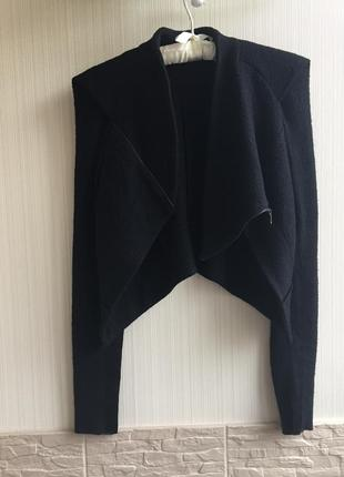 Стильная укорочённая куртка kriza + подарок ожерелье с декоративным крестом