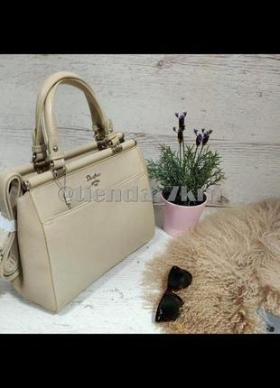 Женская сумка от david jones  5954-3t beige