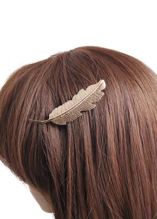 Заколка украшение для волос перо бохо этно стиль1 фото