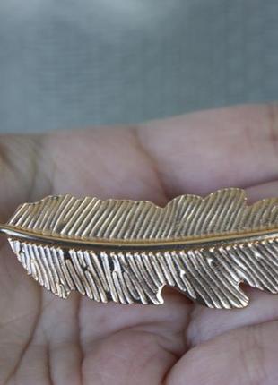 Заколка украшение для волос перо бохо этно стиль2 фото