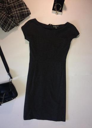 Платье футляр gap s серый меланж