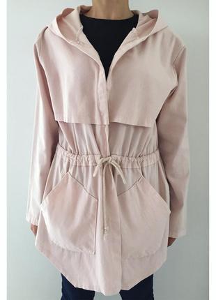 Куртка розового цвета, пальто, плащ, накидка. зручна, приємного кольору. мода 2019