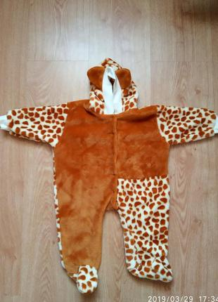 Детский комбинезон жирафка.