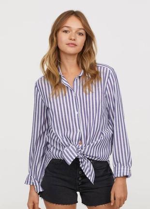 H&m рубашка в полоску, s