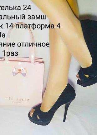 ❣️шикарные замшевые туфли на каблуке❣️