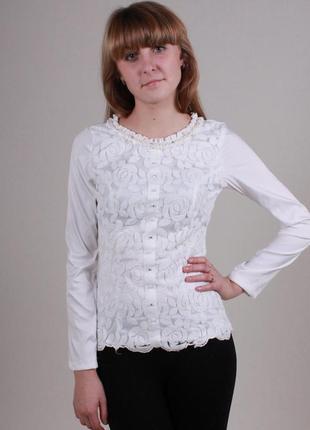 Блуза белая нарядная турция