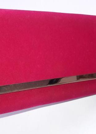 Вечерний бархатный клатч конверт 217111