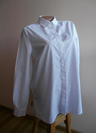 Базовая хлопковая рубашка2 фото