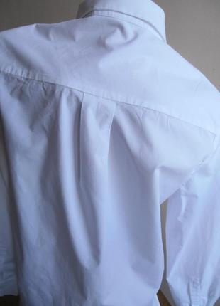 Базовая хлопковая рубашка5 фото