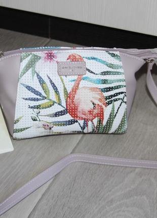 """Стильная, красивая сумочка """"фламинго"""" от david jones."""